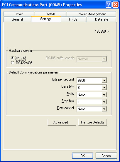 Manual config settings
