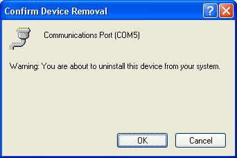 MS Ports uninstall 2