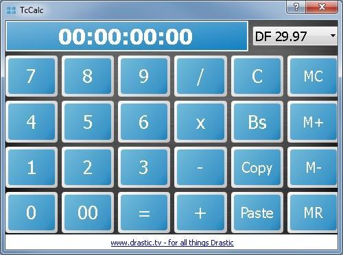 tccalc drastic s free time code calculator